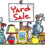 Yard Sale! Saturday, July 18th